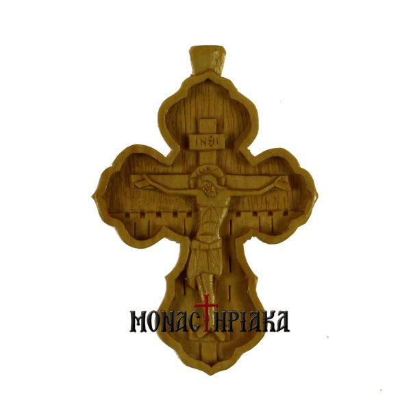Hand Carved Wooden Cross c. 091