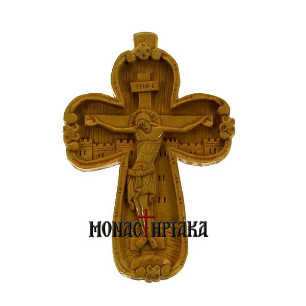 Hand Carved Wooden Cross c. 104