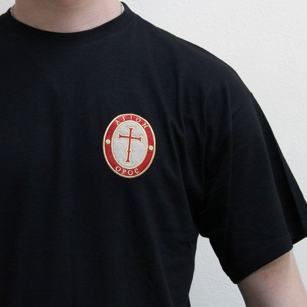 T-Shirt with Embroidered Cross