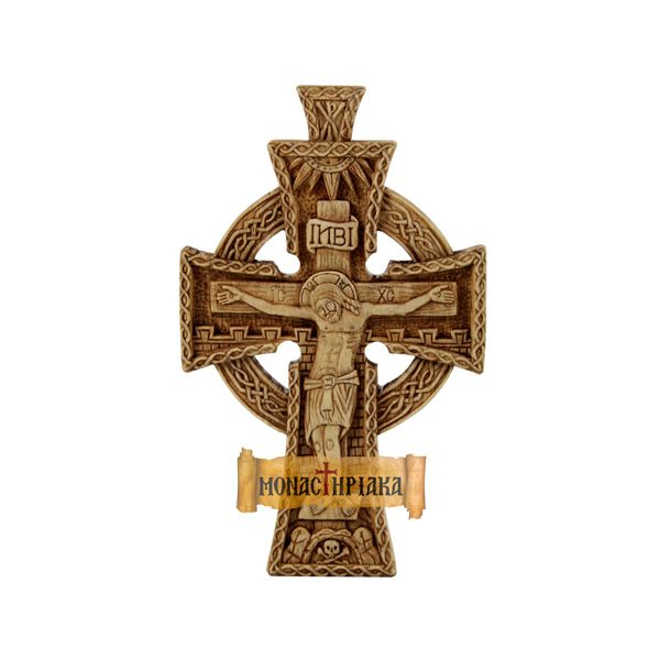 Hand Carved Wooden Cross  coll. 037