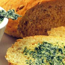 Bread with greens