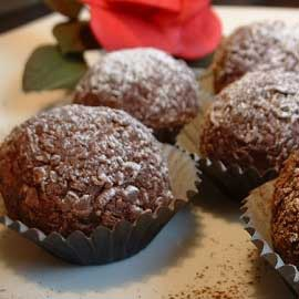 Truffles with raisins