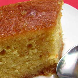 Cake soated in syrup (revani)