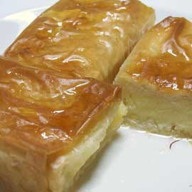 Custard filled pastry  (galaktoboureko)