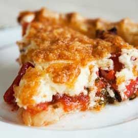 Cheese pie with peppers
