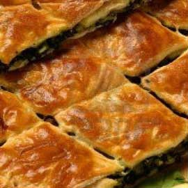 Mushroom pie with spinach