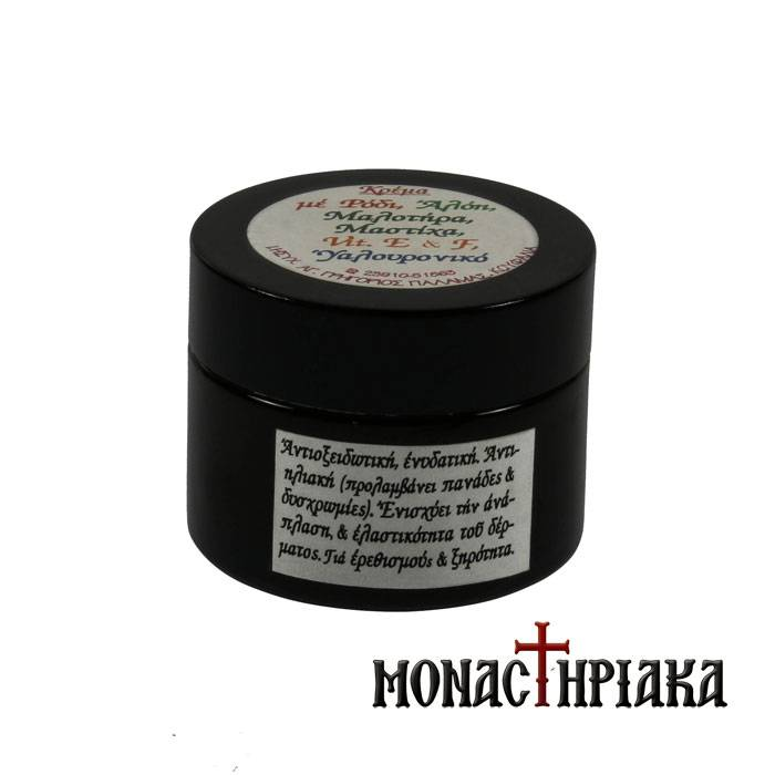 Wax Cream with Pomegranate, Aloe Vera, Green Tea, Vitamin E, Hyaluronic Acid & Mastic Oil (50ml)