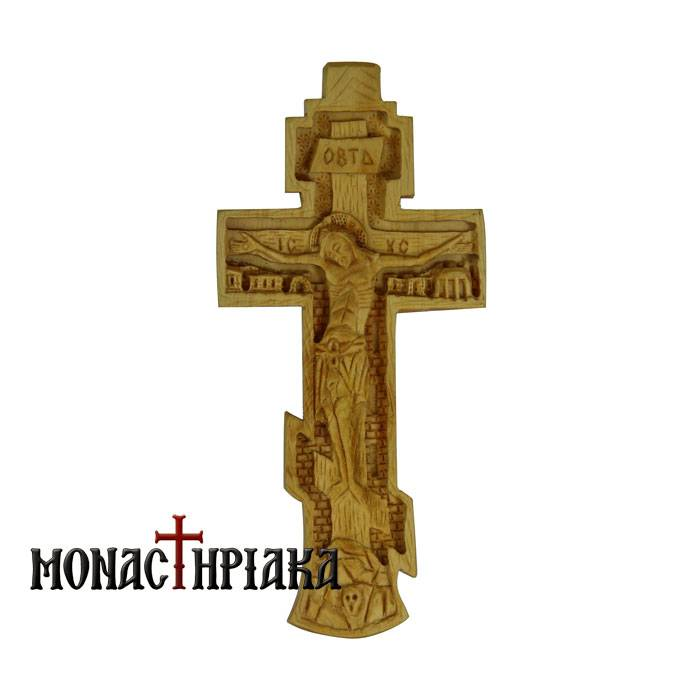 Hand Carved Wooden Cross c.038