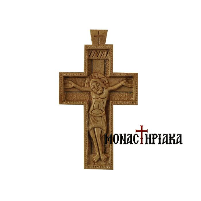 Hand Carved Wooden Cross (c 113)