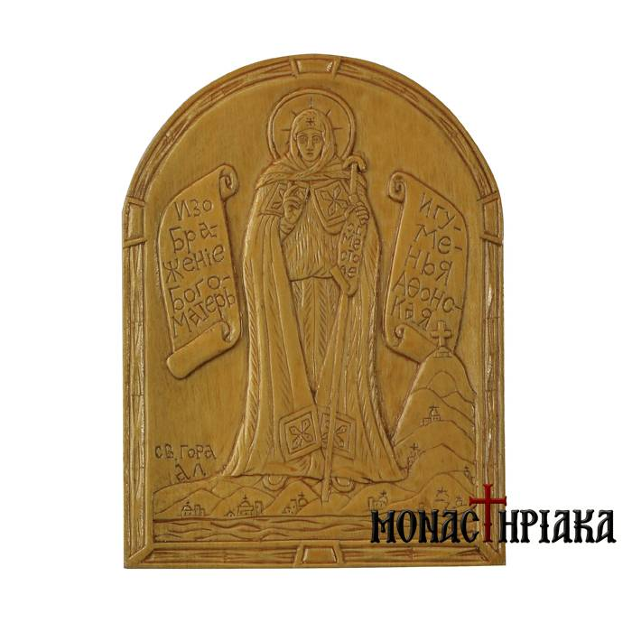 Hand Carved Wooden Icon Theotokos Eforos  mx 001