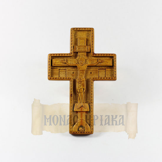 Hand Carved Wooden Blessing Cross c.002